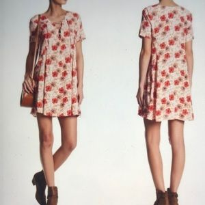 ASTR hibiscus floral lace up dress size small